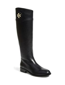New $495 Tory Burch Ashlynn Black Leather Riding Boot (Nordstrom Exclusive) 5.5 M by Tory Burch