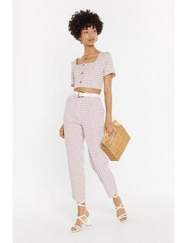 Square Up Gingham Pants by Nasty Gal