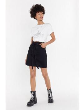Waist It On Me Denim Paperbag Skirt by Nasty Gal