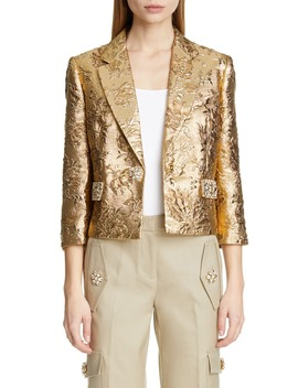 Jacquard Crop Jacket by Michael Kors