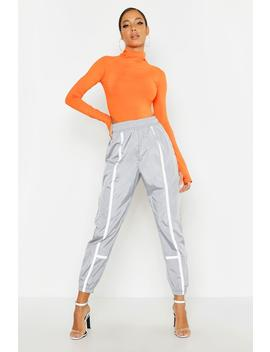Contrast Piping Shell Jogger by Boohoo