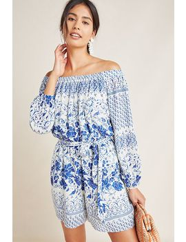Clemente Off The Shoulder Romper by Anthropologie