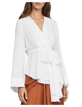 Shawl Collar Belted Top by Bcbgmaxazria