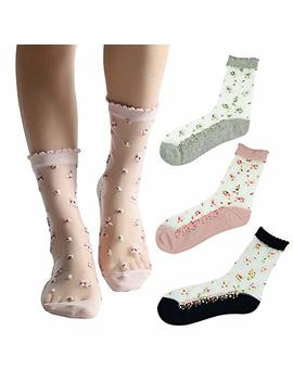 Tly Womens 6 Pairs Ultrathin Transparent Lace Elastic Short Socks by Tly