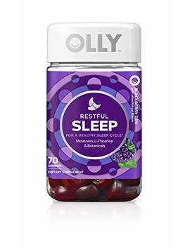 Olly Restful Sleep Melatonin Gummy, 35 Day Supply (70 Gummies), Black Berry Zen, L Theanine, Chamomile, Lemon Balm, Chewable Supplement by Olly