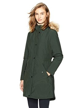 Haven Outerwear Women's Rain Anorak With Faux Fur Hood by Haven Outerwear