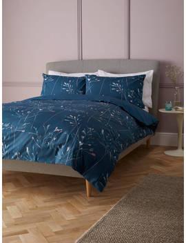 John Lewis & Partners Nerine Duvet Cover Set, Carbon Blue by John Lewis &Amp; Partners