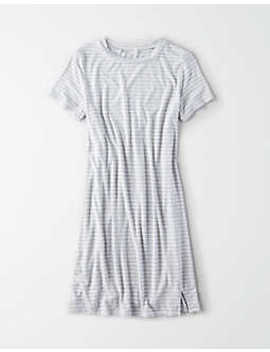 Ae Side Slit T Shirt Dress by American Eagle Outfitters