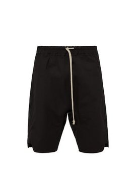 Basket Swinger Stretch Cotton Shorts by Rick Owens