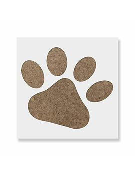 Dog Paw Stencil Template   Reusable Stencil With Multiple Sizes Available by Stencil Revolution