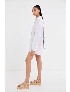 Uo Lady Button Down Shirt Romper by Urban Outfitters