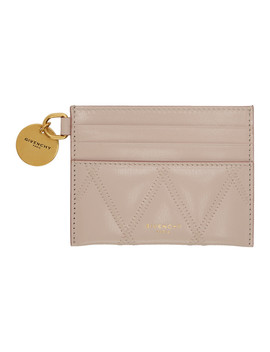 Pink Gv3 Quilted Card Holder by Givenchy
