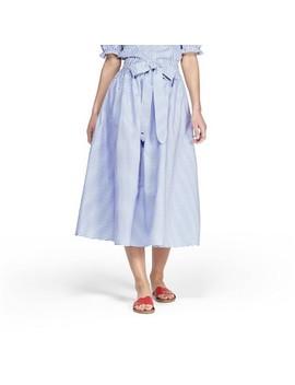 Women's Striped Midi Skirt   Navy/White   Vineyard Vines® For Target by Navy/White
