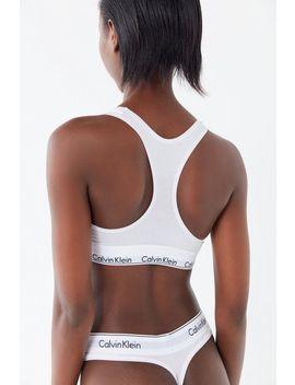 Calvin Klein Modern Cotton White Thong by Calvin Klein