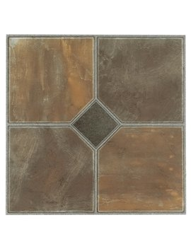 Achim Tivoli Rustic Slate 12x12 Self Adhesive Vinyl Floor Tile by Achim