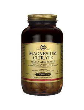 Solgar Magnesium Citrate, Highly Absorbable, Promotes Healthy Bones, Non Gmo, Suitable For Vegans,... by Solgar