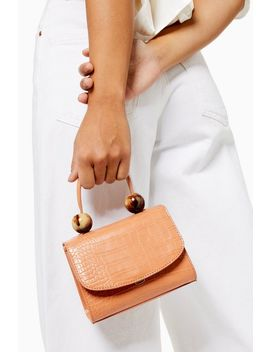 Mason Apricot Crocodile Mini Bag by Topshop