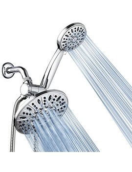 """Aqua Dance 7"""" Premium High Pressure 3 Way Rainfall Combo For The Best Of Both Worlds Enjoy Luxurious Rain Showerhead And 6 Setting Hand Held Shower Separately Or Together   Chrome Finish   3328 by Aqua Dance"""
