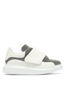 Wide Strap Leather Trainers by Alexander Mc Queen