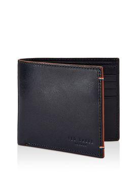 Cechic Contrast Stitch Leather Bifold Wallet by Ted Baker