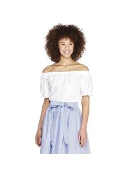 Women's Off The Shoulder Short Sleeve Bardot Top   White   Vineyard Vines® For Target by White
