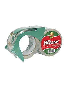 Duck Hd Clear Heavy Duty Packaging Tape With Dispenser, 2 Rolls, 1.88 Inch X 54.6 Yard, (393184) by Duck