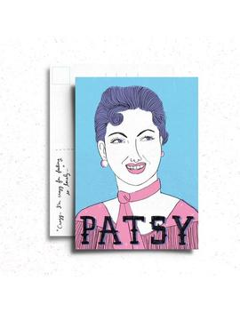 Patsy Cline Postcard/Mini Print by Etsy