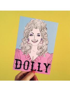 Dolly Parton Postcard/Mini Print by Etsy
