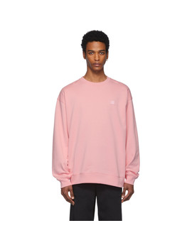 Pink Oversized Forba Face Sweatshirt by Acne Studios