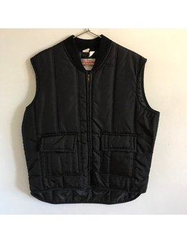 Walls Blizzard Pruf Insulated Vest / Vintage / Made In Usa / Black / Mens Womens Xl Extra Large / 80s 1980s Eighties / Nylon Polyester by Etsy
