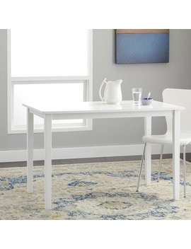 Simple Living Shaker Dining Table In White by Simple Living