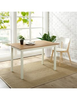 Priage By Zinus Farmhouse Wood Dining Table by Zinus