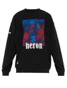 Heron Printed Cotton Sweatshirt by Heron Preston