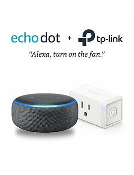 Echo Dot (3rd Gen)   Charcoal With Tp Link Smart Plug Mini by Amazon