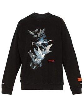 Dove Print Cotton Jersey Sweatshirt by Heron Preston