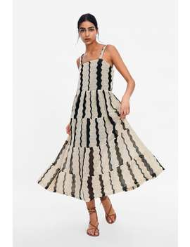 Striped Textured Weave Dress View All Dresses Woman by Zara