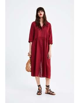 Long Linen Dress View All Dresses Woman by Zara