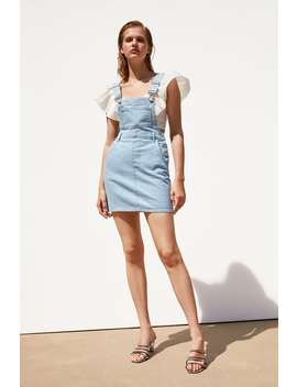 Authentic Denim Buttoned Pinafore  New Intrf by Zara