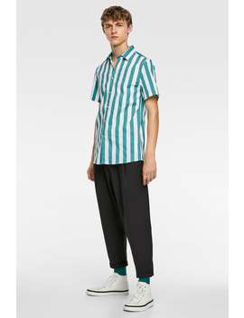 Striped Stretchy Shirt Special Pricesman by Zara