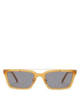 Lia Squared Acetate Sunglasses by Self Portrait