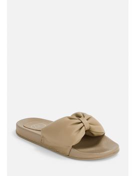 Nude Knot Detail Sliders by Missguided