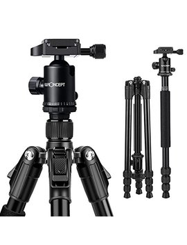 k&f-concept-tm2534b-64-compact-lightweight-aluminium-camera-tripod-with-360-ball-head-quick-release-plate-for-nikon-canon-dslr-and-digital-camera by k&f-concept