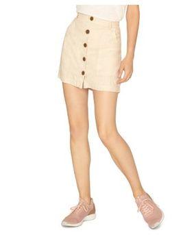 Linen Button Front Mini Skirt by Sanctuary