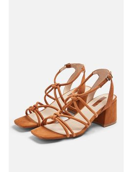 Sydney Tan Tubular Sandals by Topshop
