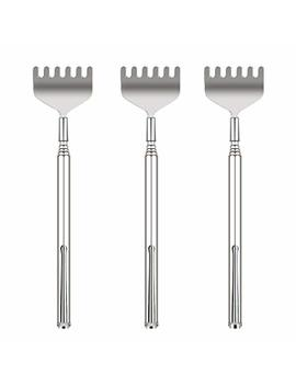 Updated 6 Tooth Back Scratcher, Ohfun 3 Pack Portable Extendable Telescopic Metal Back Scratchers/Hand Massager With Pocket Clip For... by Ohfun