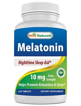 Best Naturals Melatonin 10mg 120 Tablets   Drug Free Nighttime Sleep Aid   Melatonin For Sleep And Relaxation by Best Naturals