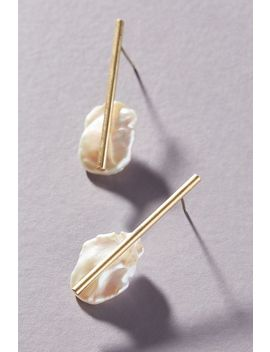 Dana Pearl Drop Earrings by Serefina
