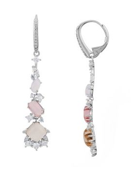 Sorbet Cluster Drop Earrings by Nadri
