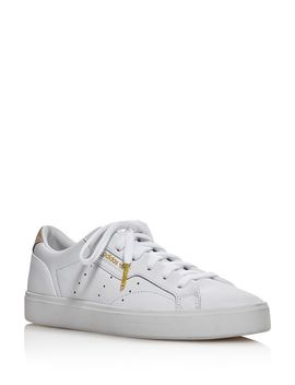 Women's Sleek Low Top Lace Up Sneakers by Adidas