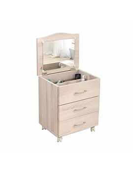 Bedside Table Dressers Integrated Combo Table Small Bedroom With Mirror Dressing Table Multi Functional Removable Storage Cabinet (Color : Beige, Size : 37.34553cm) by Bedside Table